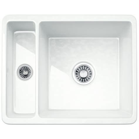 ceramic undermount kitchen sinks 1 5 franke kubus kbk 160 ceramic 1 5 bowl undermount kitchen 8119