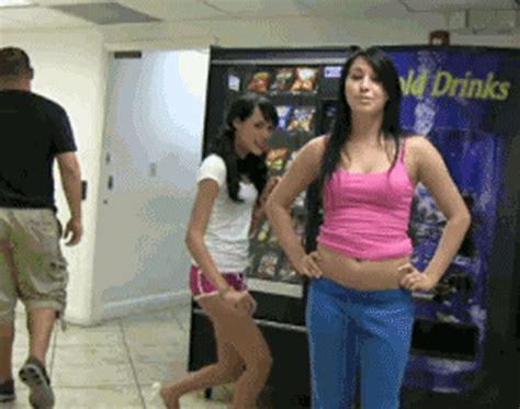 Girls With No Panties On Get Pantsed