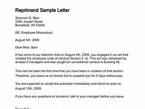 Sample letter of reprimand best letter sample for Letter of reprimand template