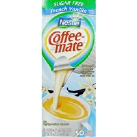 Coffee mate sugar free french vanilla liquid creamer is smooth vanilla perfection—without the sugar, and at 32 fluid ounces, it's coffee's perfect. Coffee-mate Sugar Free French Vanilla - 50 Creamers | Snackoree