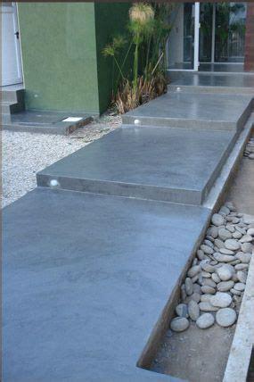 pisos de concreto  exteriores  como organizar la