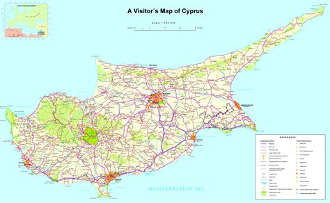 large detailed tourist map  cyprus