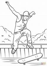 Skateboard Coloring Jump Pages Drawing Printable Skateboarding Ramps Coloriage Sketch Ramp Entitlementtrap Cat Categories Template sketch template