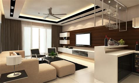 modern living room with plaster ceiling