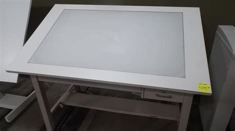 drafting table with lightbox used light table box hopper 39 s drafting furniture