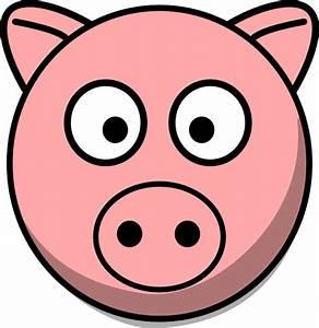 Pig Head Clip Art at Clker.com - vector clip art online ...