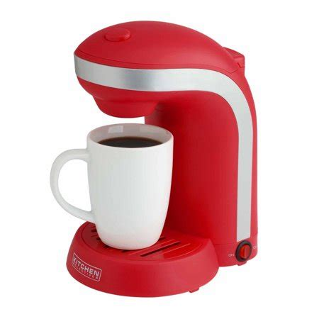 Kitchen Selectives Single Drip Coffee Maker With Mug, Red