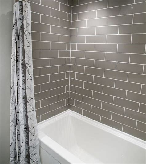 grey subway tile small bathroom remodeling white subway tile bathroom