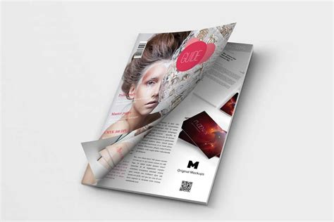 This free magazine mockup template includes a cover page and one spread. Free Download A4 Magazine Cover Mockup in PSD - Designhooks