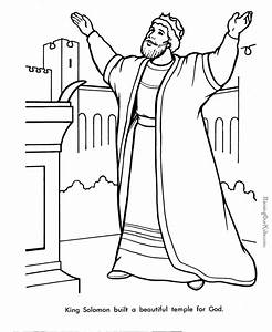 King Solomon Bible Page To Color 019