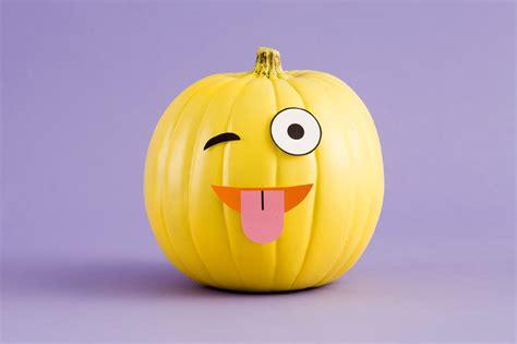 Emoji Pumpkin Carving by Make Diy Emoji Pumpkins With Our Free Printables Brit Co