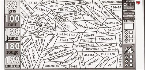 imprimer coloriage magique math calcul addition ce  ce