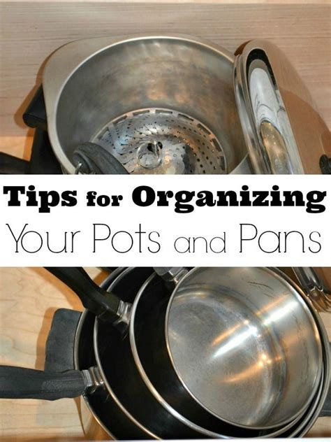 organizing pots and pans in a small kitchen 1000 images about top organizing on 9868