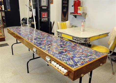 portable beer pong table built  reclaimed wood