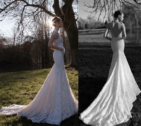 backless wedding dress lace lace backless mermaid style wedding gown 2049895