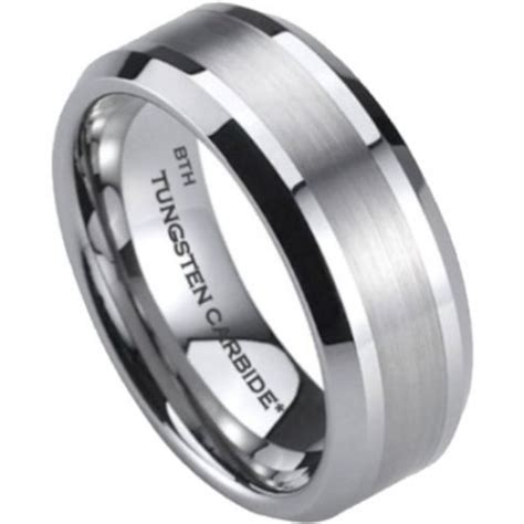 wedding rings men mens tungsten carbide wedding engagement band ring 8mm 1049