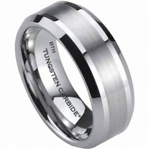 mens tungsten carbide wedding engagement band ring 8mm With tungsten carbide mens wedding rings