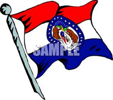 Cost Of Missouri Boating License by State Flag Of Missouri Royalty Free Clipart Picture
