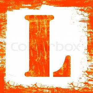 letter l in a series of single square stamps with grunge With letter l stamp