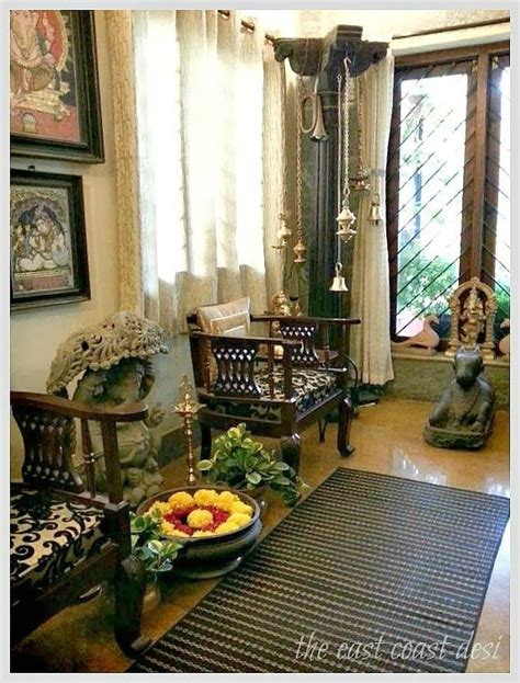 home decorating ideas indian style pillar used to display a collection of brass ls indian