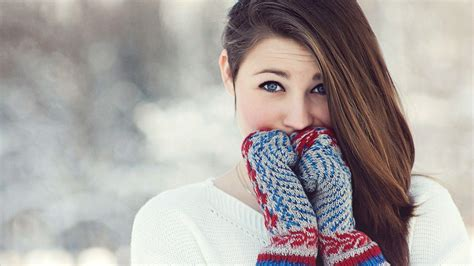 Girl With Gloves Wallpaper Nature And Landscape