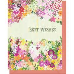 best wishes blank inside wedding congratulations etc pink orange flowers violet cottage
