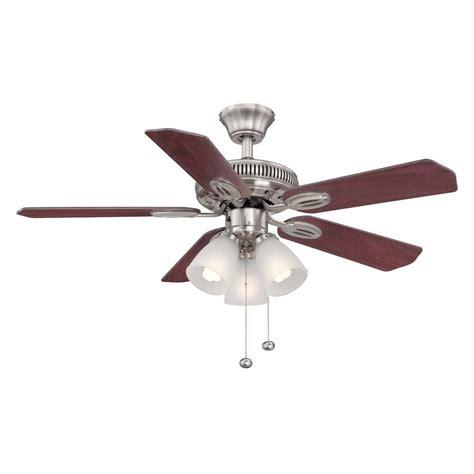 42 Ceiling Fan Room Size by Hton Bay Glendale 42 In Brushed Nickel Ceiling Fan