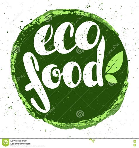 cuisine eco vector illustration with leaves organic logo royalty