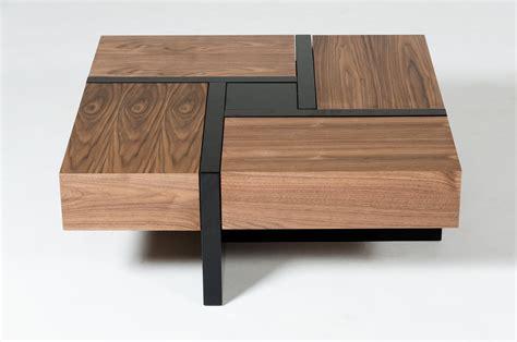Couchtisch Quadratisch Schwarz by Modrest Makai Modern Walnut Black Square Coffee Table