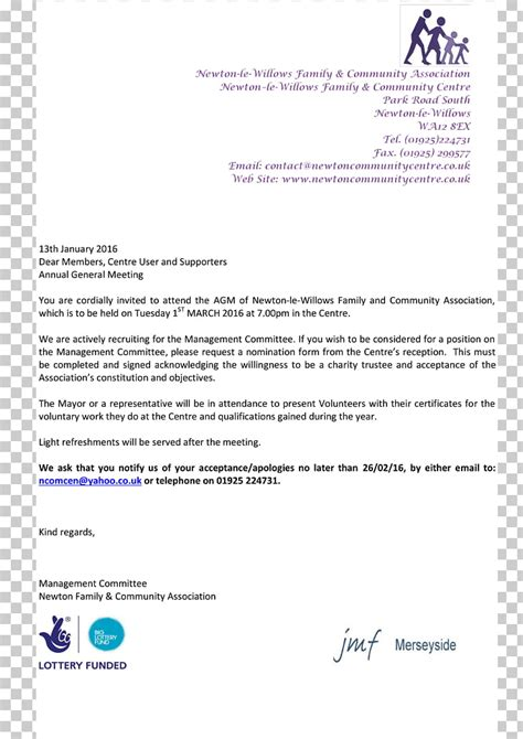 agm invitation letter template invacationstorg