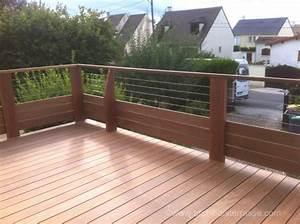terrasse bois en hauteur sur pilotis avec pare vue et With terrasse en bois en hauteur