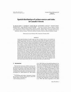 Pdf  Spatial Distribution Of Carbon Sources And Sinks In
