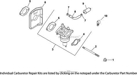 kohler cv  lesco  hp  kw parts diagram