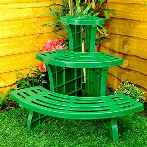 Plant Etagere Outdoor by Great Ideas 3 Tier Corner Etagere Potted Plant Display