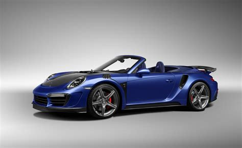 blue porsche convertible blue car convertible porsche 911 stinger gtr 2017