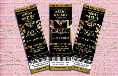 great gatsby style art deco party invitation prom