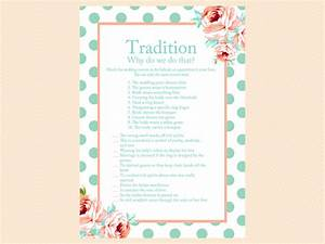 mint and peach bridal shower game package magical printable With unique wedding shower games