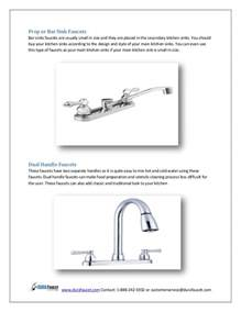 faucet types kitchen types of kitchen sink faucets