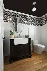 20 Black and White Powder Room Design Ideas EVA Furniture