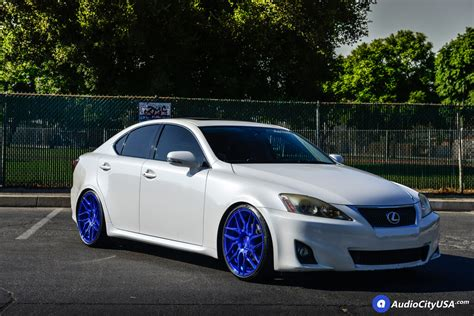 lexus is 250 custom 19 quot rohana wheels rfx7 custom pica blue finish rims h r