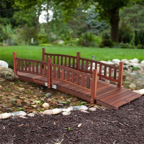 durable  ft garden bridge  hand rails  red shorea