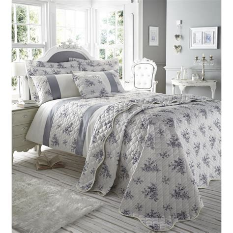 Floral Bedspreads by But Y Catherine Lansfield Toile Blue Bedspread