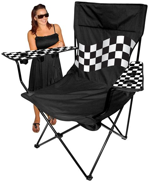 Kingpin Folding Travel Chair With Canopy by Oversized Kingpin Folding Arm Chair 6 Cup Holders