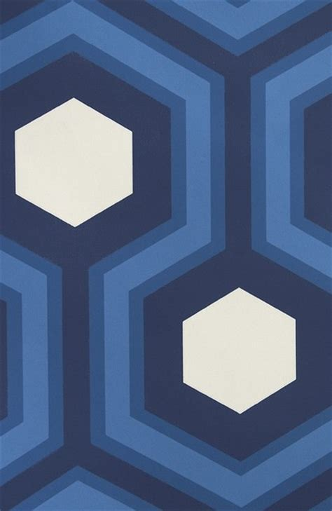wallpaper in kitchen cabinets hicks grand hexagon wallpaper blue contemporary 6975