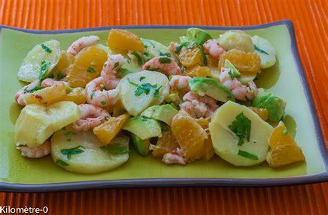 site recette de cuisine salade de pommes de terre crevettes et oranges