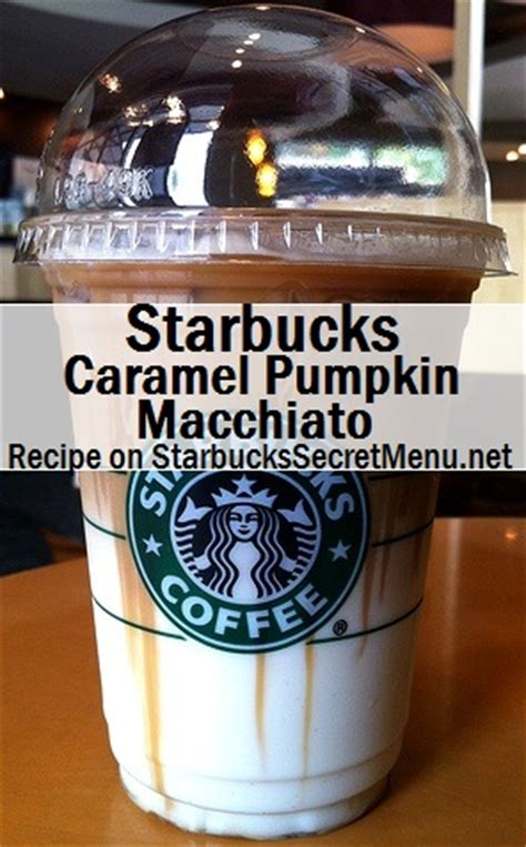 Starbucks medium roast ground coffee starbucks frappuccino, 2 flavor variety pack, 9.5 fl oz (15 count). Caramel Pumpkin Macchiato   Starbucks Secret Menu