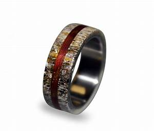 titanium ring mens titanium wedding band deer antler With deer antler mens wedding rings