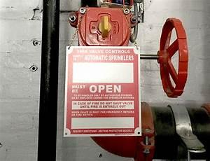 Fire Sprinkler Riser Inside Sign 25761