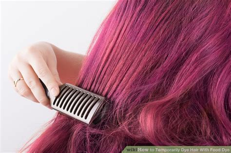 How To Temporarily Dye Hair With Food Dye