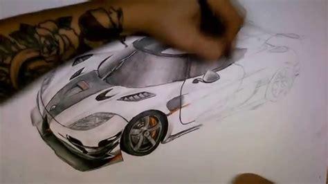 koenigsegg agera   drawing  aleksdraw youtube